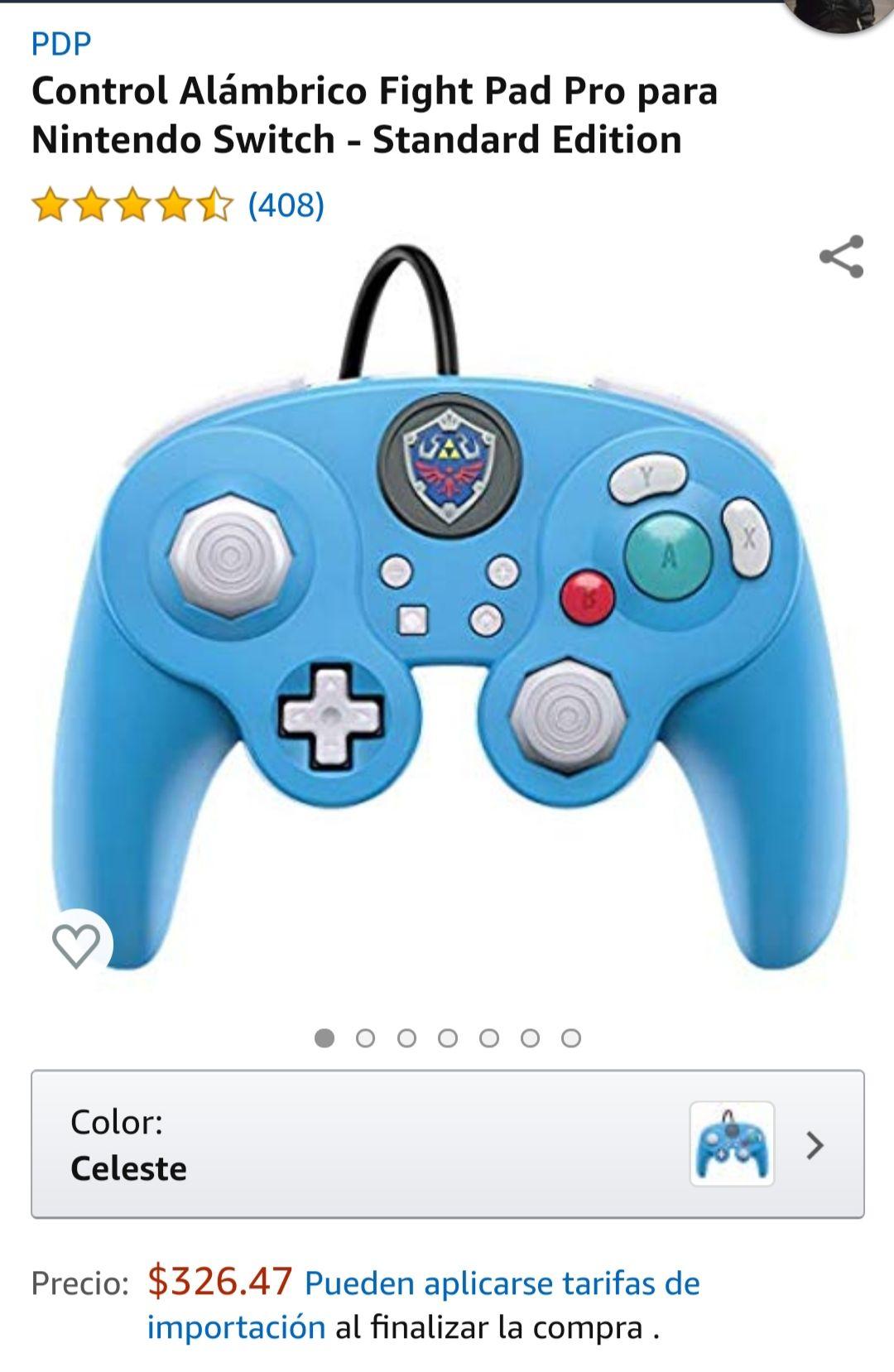 Amazon: Control Switch Gamecube Zelda (aplica PRIME)
