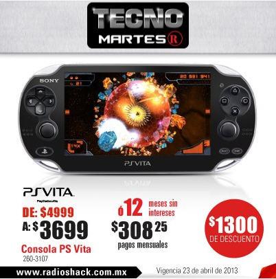 PS Vita $3,699 o bundle con Modnation Racers $3,999