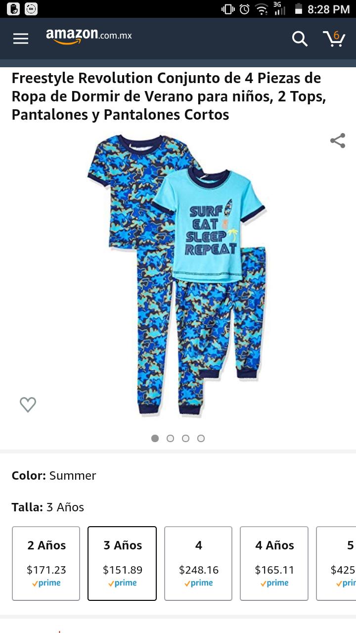 Amazon: Pijama para niño