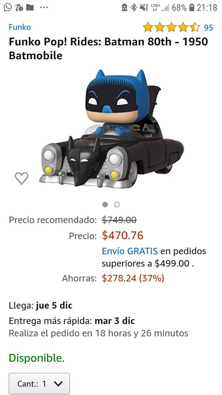Amazon: Funko Pop Rides Batman 80th 1950 Batmobile Amazon