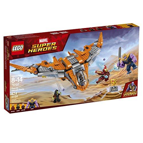 Amazon: LEGO Juego de Construcción Marvel Super Heroes Avengers Infinity War, Thanos Batalla Definitiva (76107)