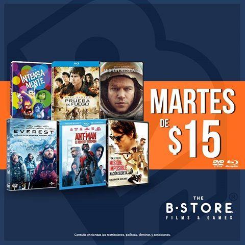 B-Store: martes todas las películas en renta a $15