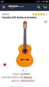 Amazon: Yamaha C45, guitarra