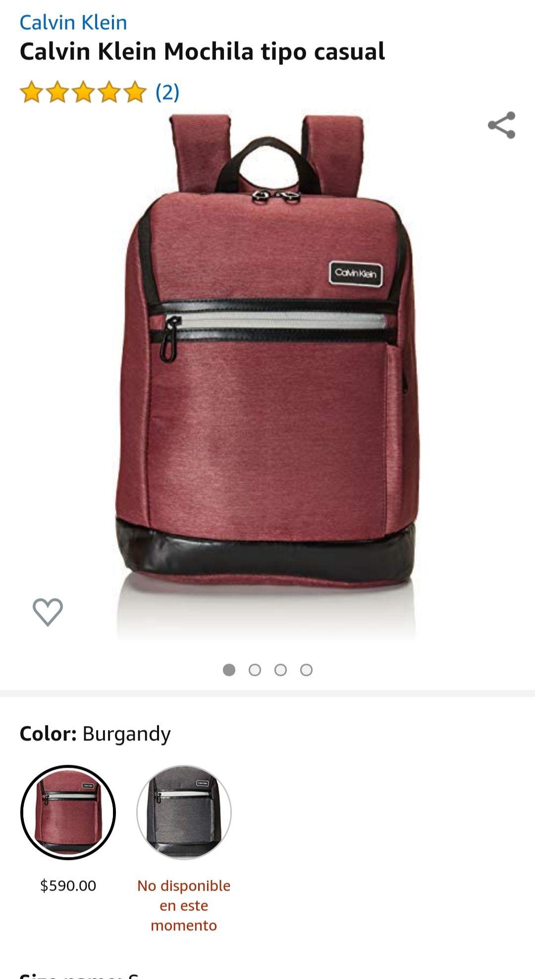 Amazon: Mochila Calvin Klein