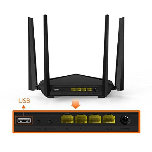 Amazon: Router Tenda AC10U con puerto USB tecnologia MIMO