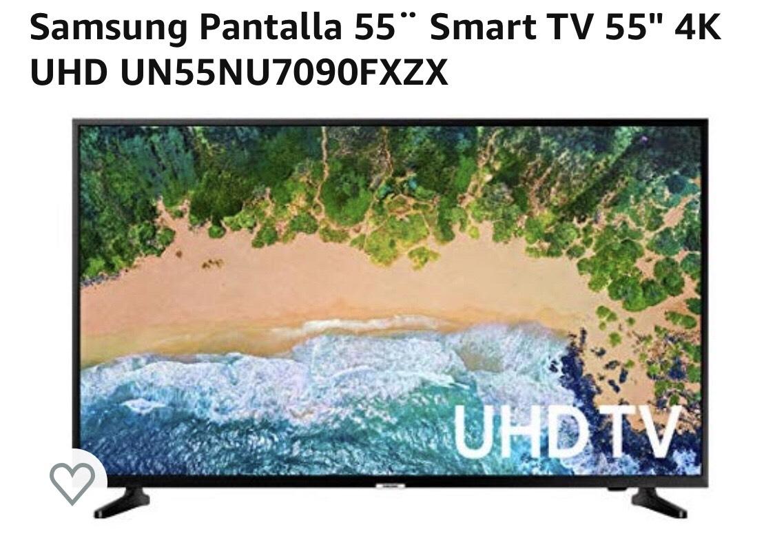 """Amazon: pantalla Samsung 55"""" 4K UHD pagando con bbva"""