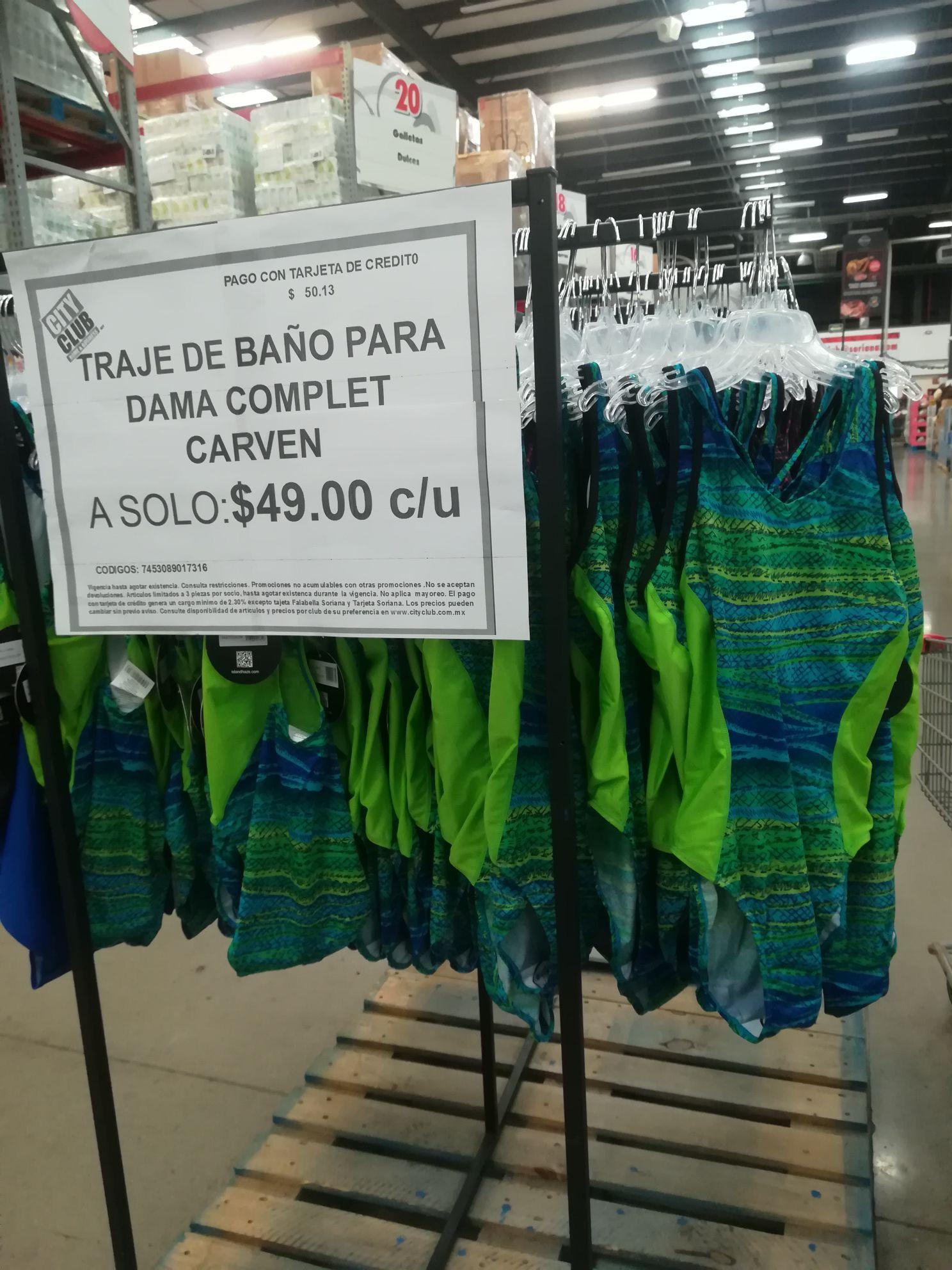 City club Villahermosa: Traje de baño variedad de colores y tallas