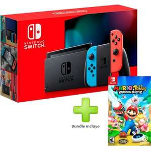 Linio: Nintendo Switch neon 1.1 + Mario Rabbits Kingdom o Switch Pro Controller (Paypal y BBVA)