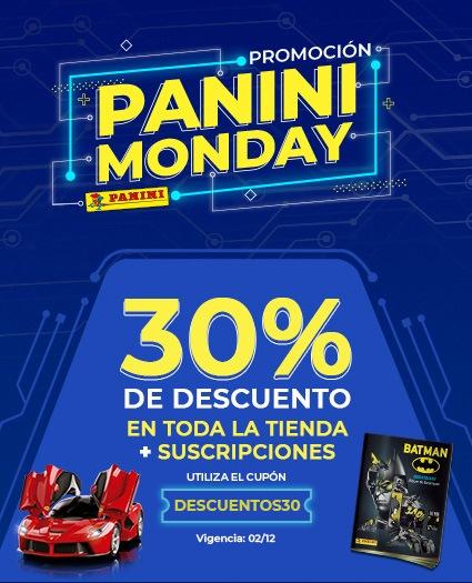 Panini 30% de descuento en toda la tienda en línea y suscripciones, envío gratis a partir de $250
