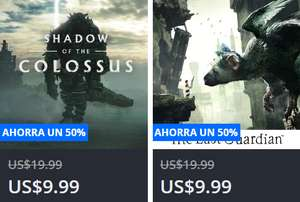 Playstation Store: Shadow of the Colossus y The Last Guardian para PS4 a $195 c/u