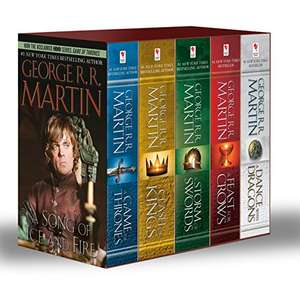 Amazon MX: Game of Thrones 5-Book Boxed Set (Song of Ice and Fire series)