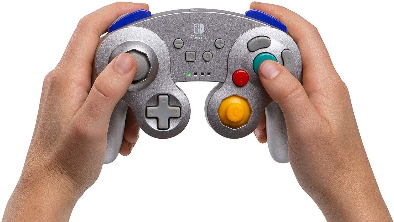 Amazon: Control Inalambrico para Switch tipo GameCube Plateado