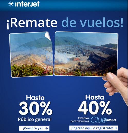 Interjet: Remate de vuelos hasta 40% de descuento solo 24 y 25 de febrero