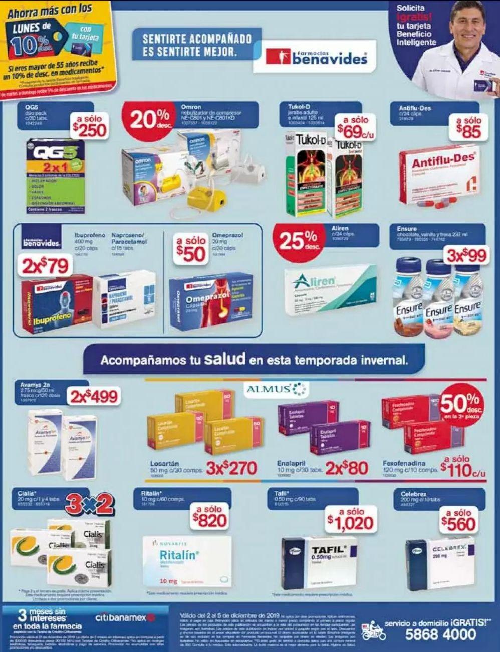 Farmacias Benavides: Ofertas del Lunes 2 al Jueves 5 de Diciembre
