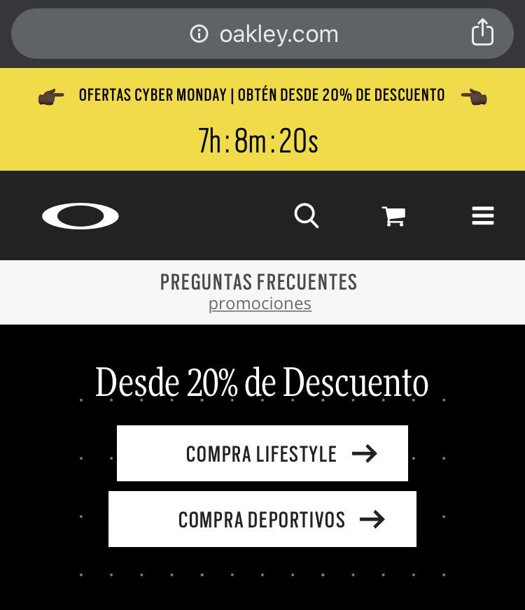 Cyber Monday Oakley México: lentes con hasta 50% de desc. (desde $1,009.50) + Envío Gratis