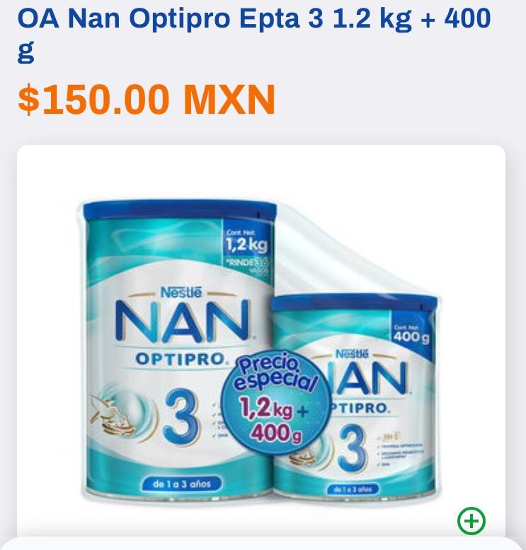 Chedraui en línea: Leche NAN 3 de 1,200g + 400g