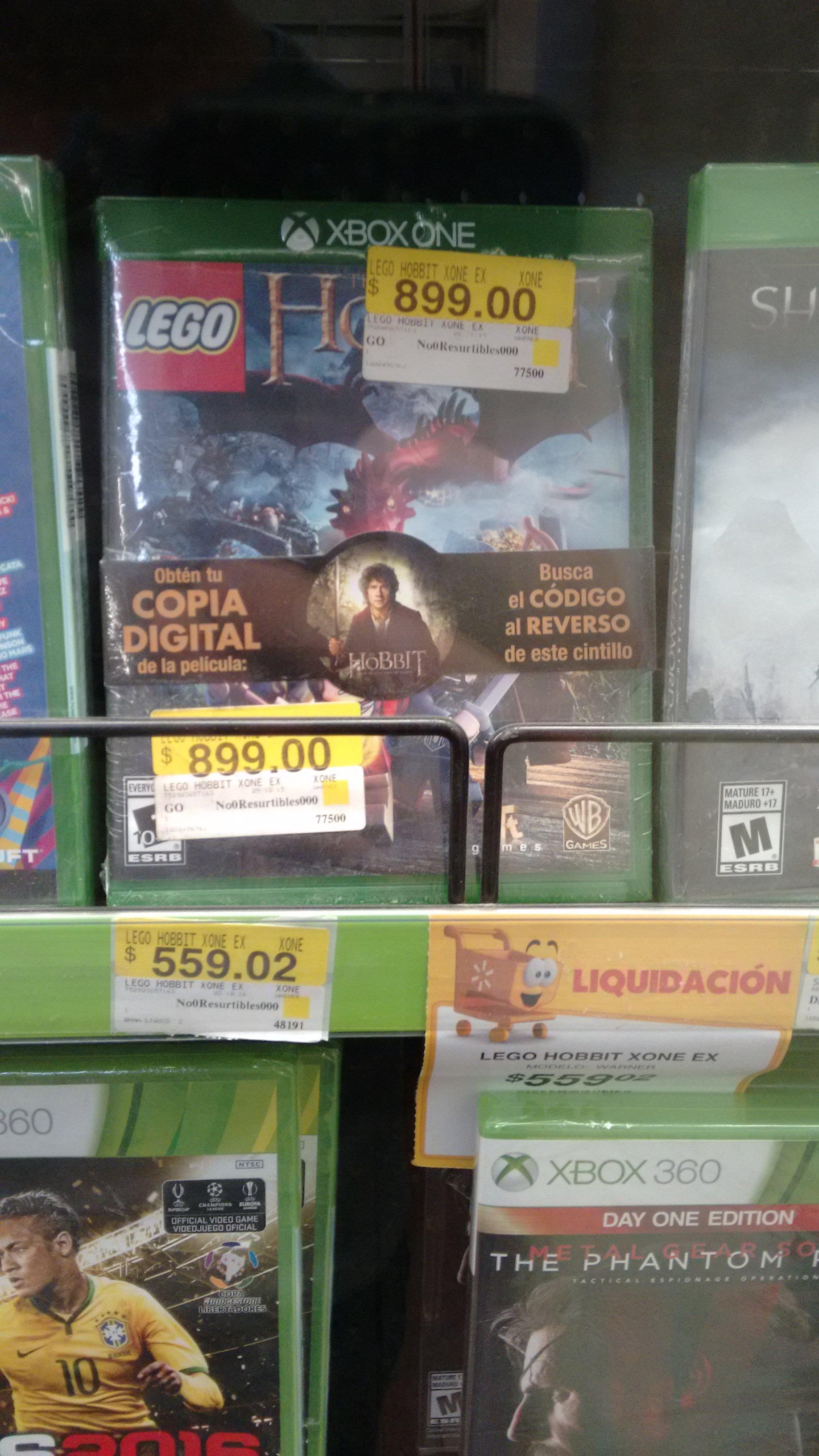 Walmart: LEGO The Hobbit para Xbox One a $559.02