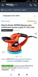 Amazon: Pulidora Black & Decker WP900
