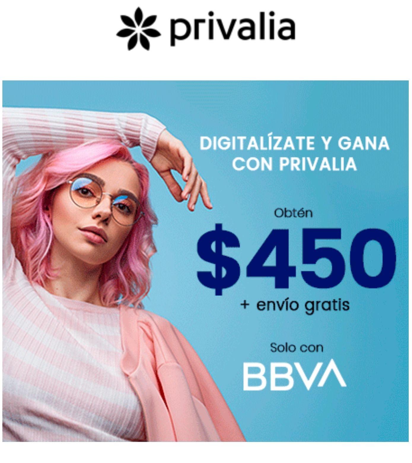Privalia -$450 menos en Privalia con BBVA (usuarios nuevos)
