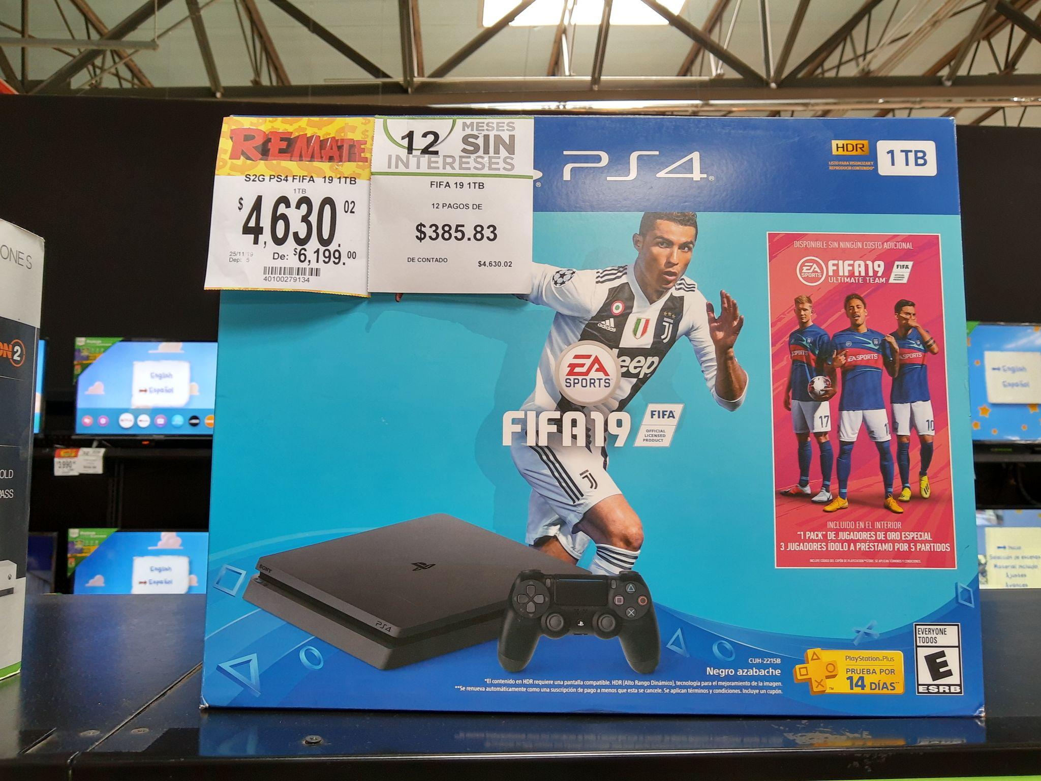 Bodega Aurrerá: PS4 1TB con FIFA 19