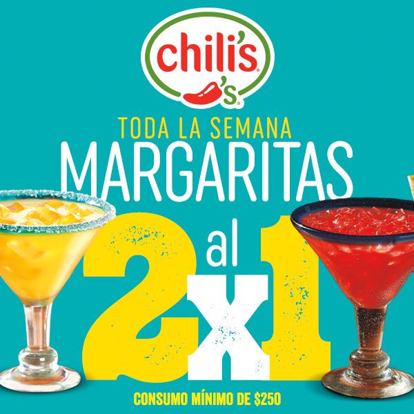 CHILLIS MARGARITAS AL 2x1 TODA LA SEMANA