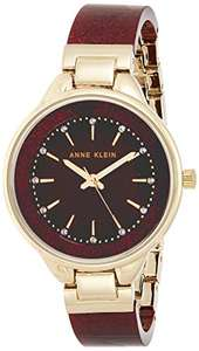 Amazon: Reloj Anne Klein Swarovski Crystal Accented para Mujer