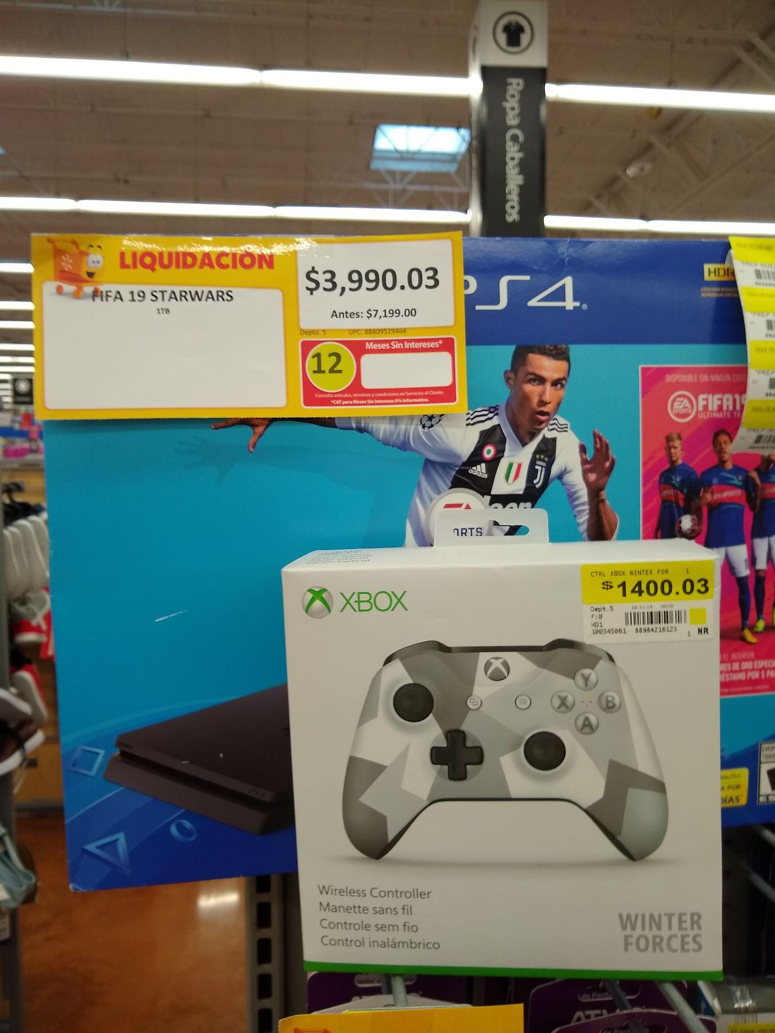Walmart: Consola PS4 con FIFA