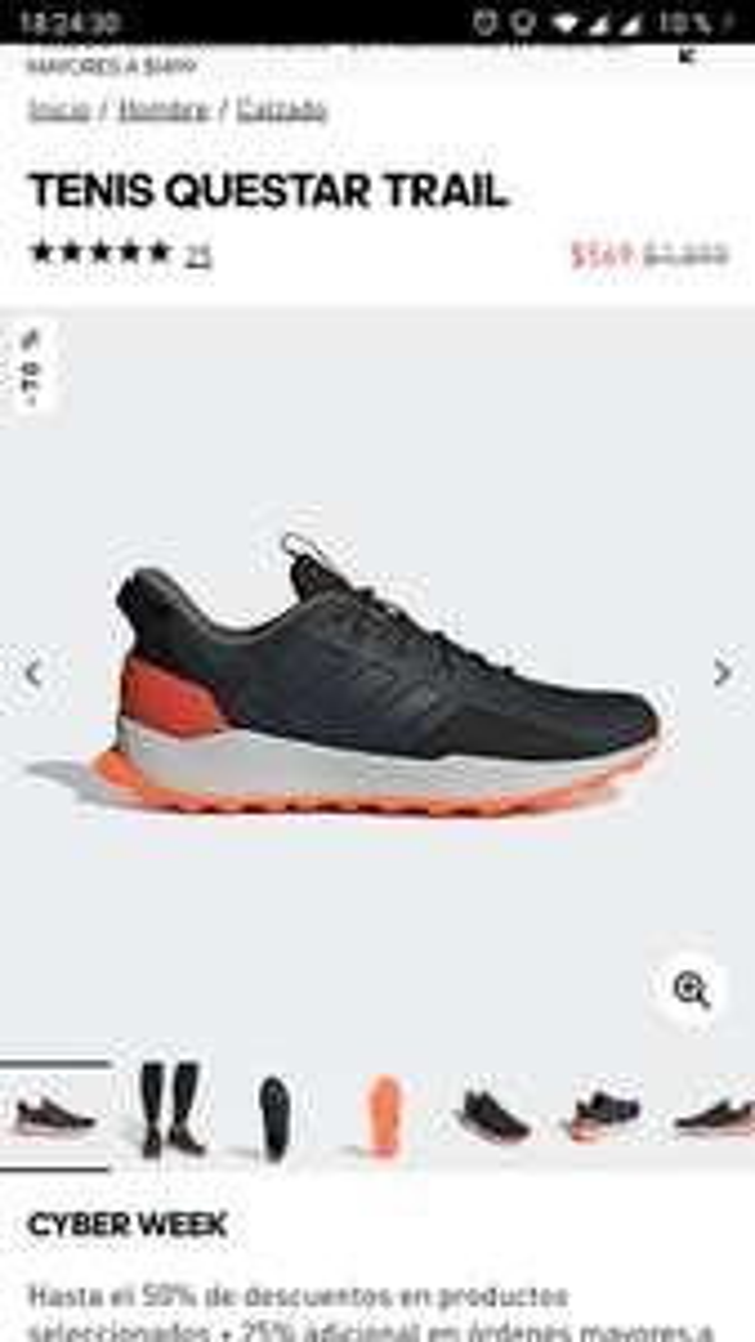 Adidas: Tenis questar trail