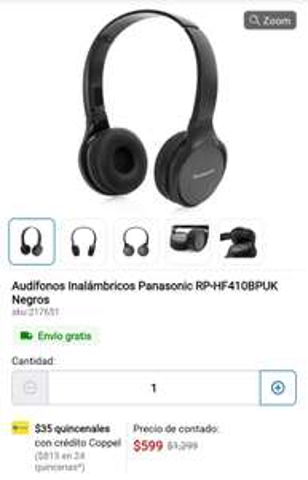 Coppel: Audífonos inalambricos Panasonic