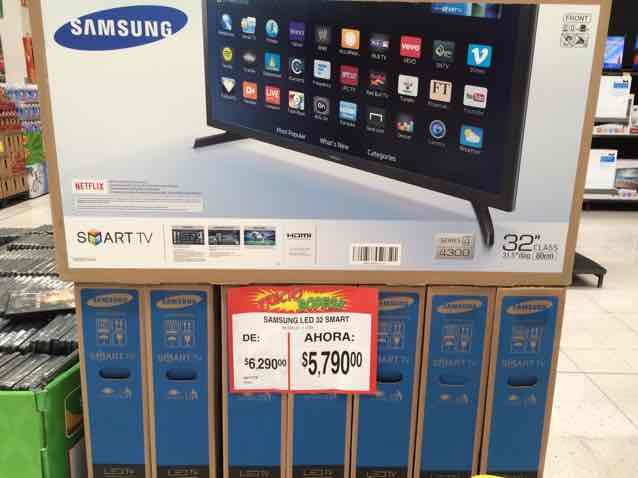 """Bodega Aurrerá: Smart TV Samsung 32"""" de $6,290 a $5,790"""