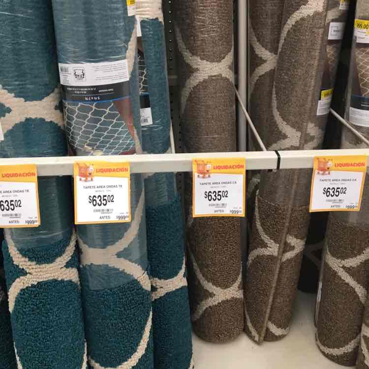Walmart Miramontes y Escuela Naval: tapete, varios colores de $999 a $635.02