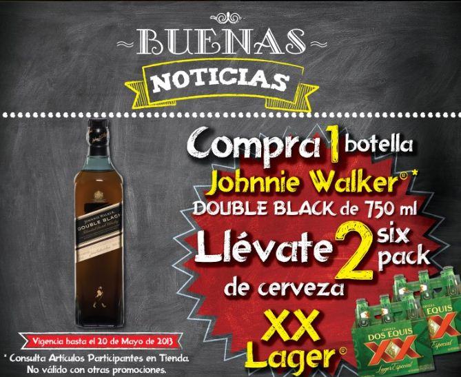 Superama: six de XX Lager comprando whisky Johnnie Walker y más