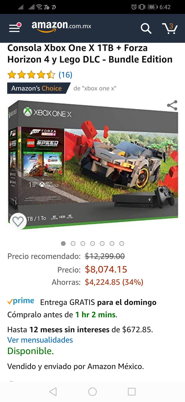Amazon: Xbox One X nuevo