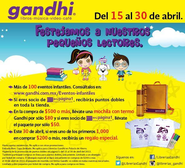 Promociones del día del niño en Librerías Gandhi