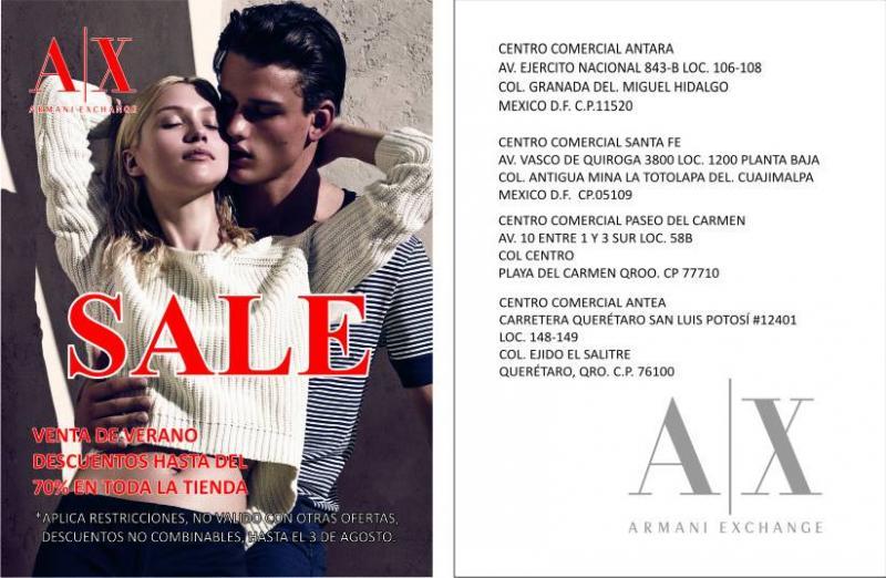 Armani Exchange: descuentos del 50, 60 y 70% en toda la tienda