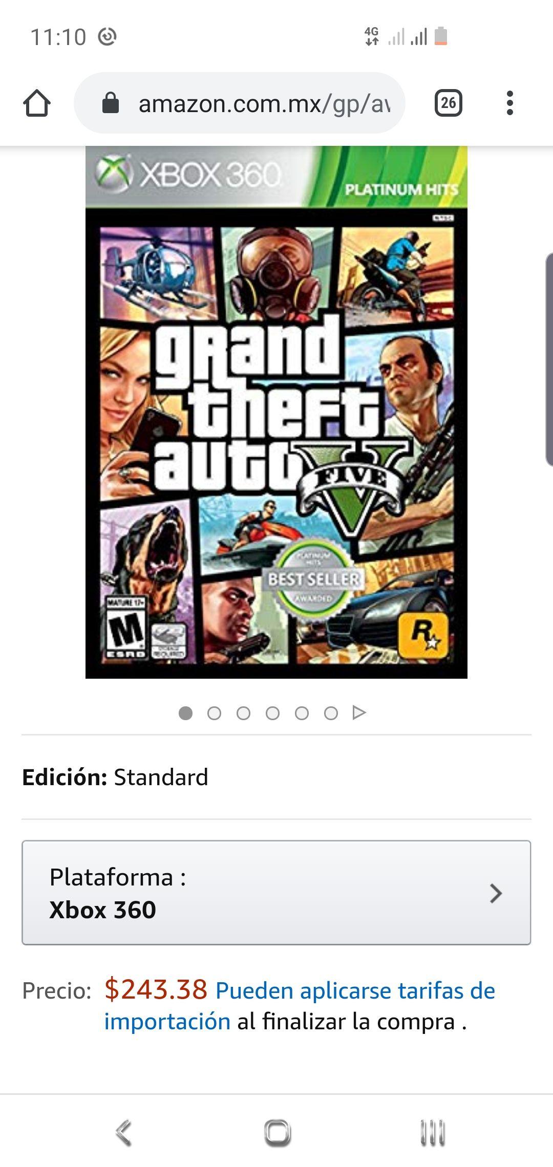 Amazon: GTA V Xbox 360
