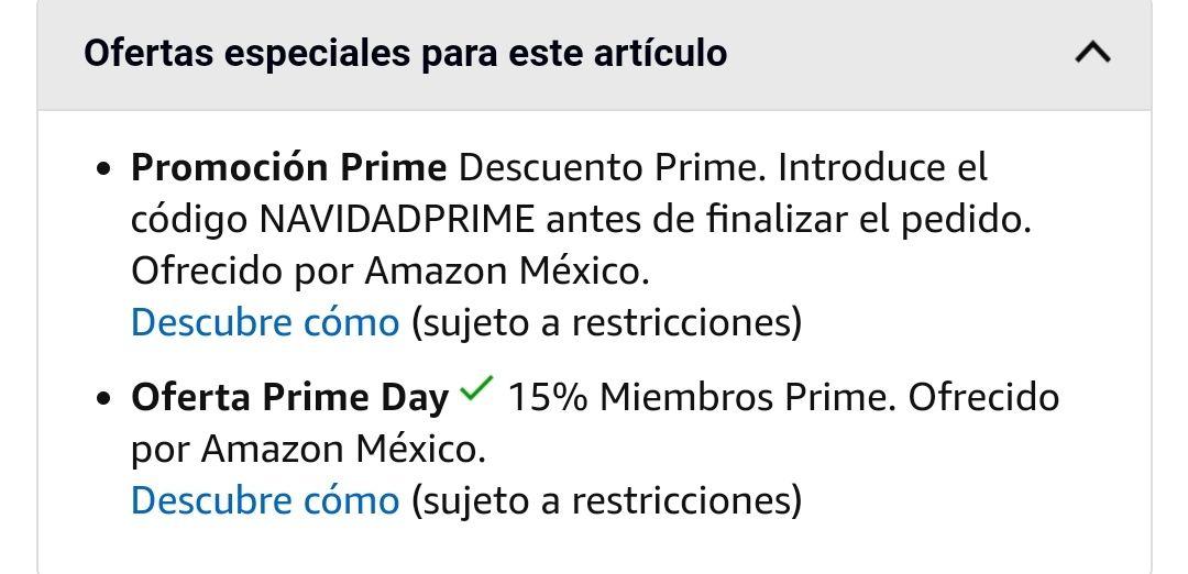 Amazon: Descuento Prime de $100, en compras de $300 o más (usuarios seleccionados)