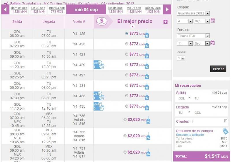 Volaris: 70% de descuento martes y miércoles de agosto a noviembre (extendida)