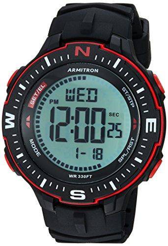 Amazon: Armitron Sport 40/8391BRD Men's Strap Watch, Red Accented Digital Chronograph, Black Silicone