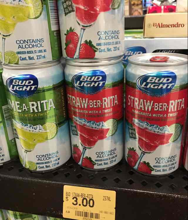 Superama: bebida Bud-Rita limón y fresa en $3.00