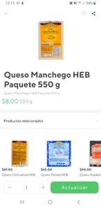 RAPPI: Queso manchego 550g $8.00