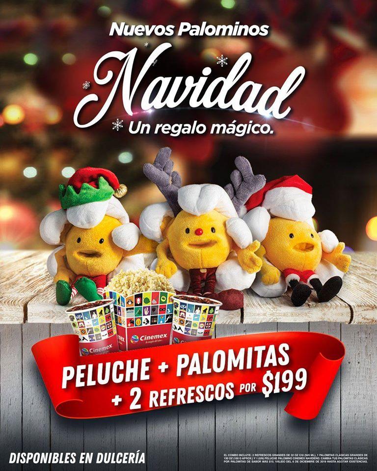 Cinemex peluche+palomitas+2 refrescos