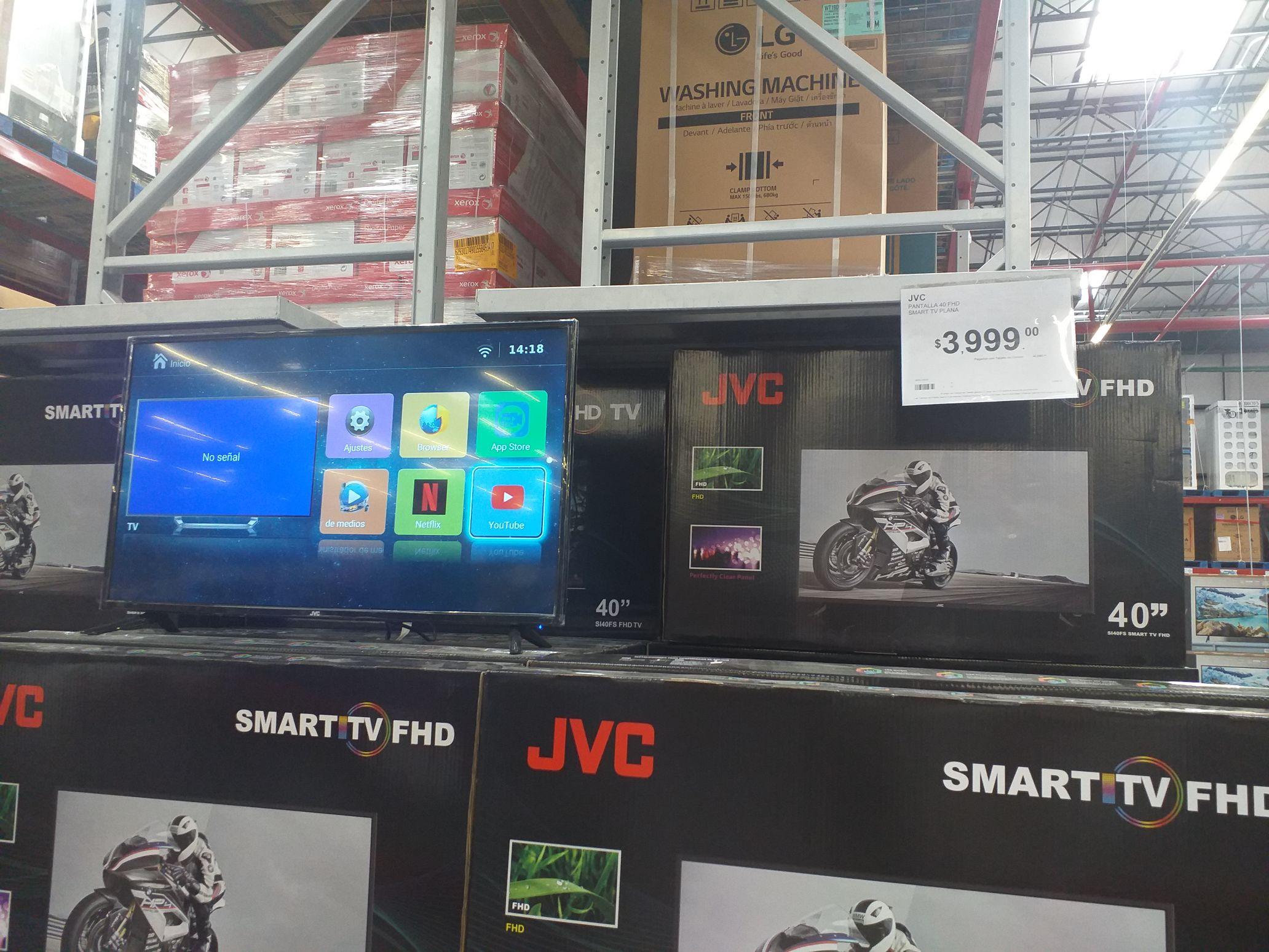"Sam's Club: Pantalla smart TV JVC 40"" 3999"