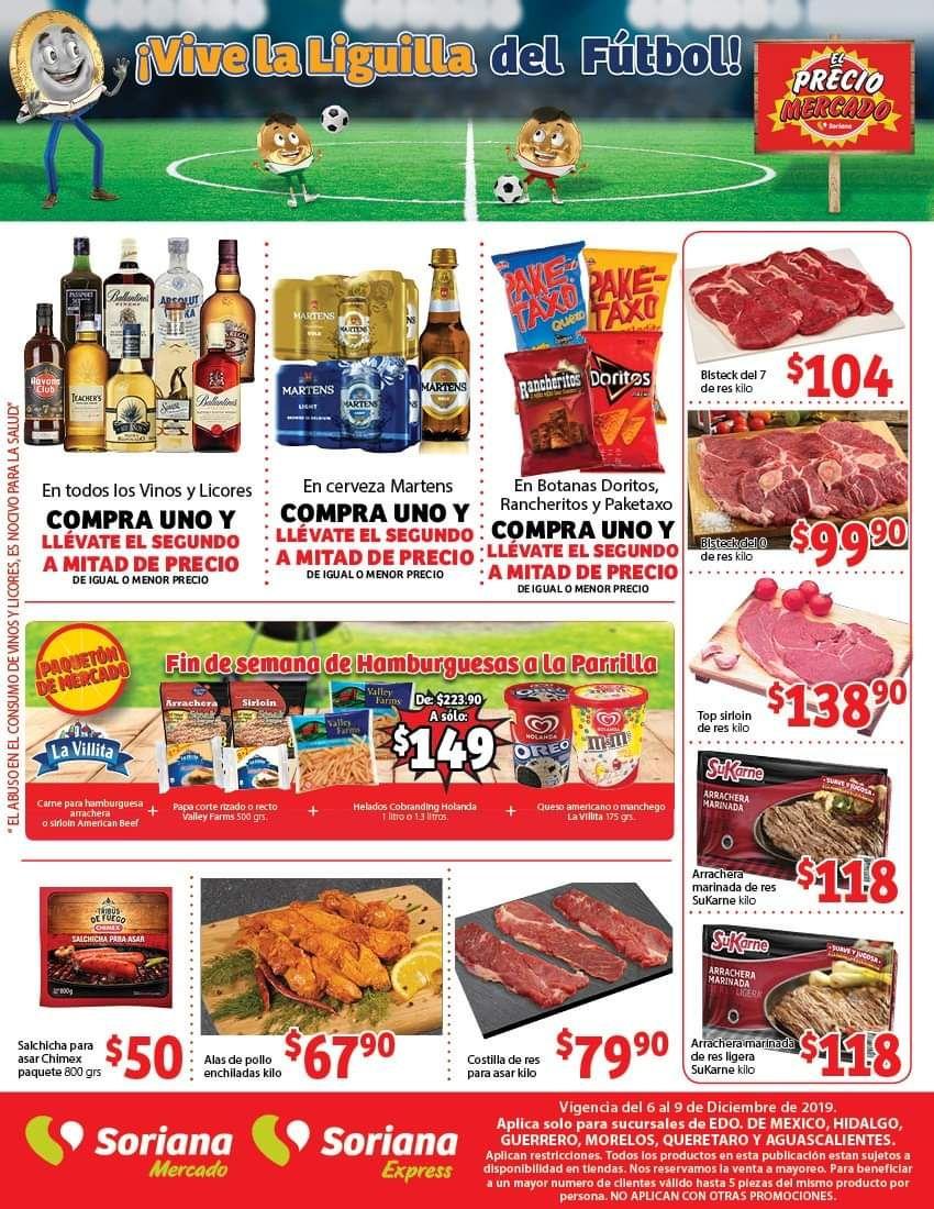 Soriana Mercado y Express: 2 x 1½ en vinos y licores, cerveza Martens y Doritos, Rancheritos y Paketaxo... y más