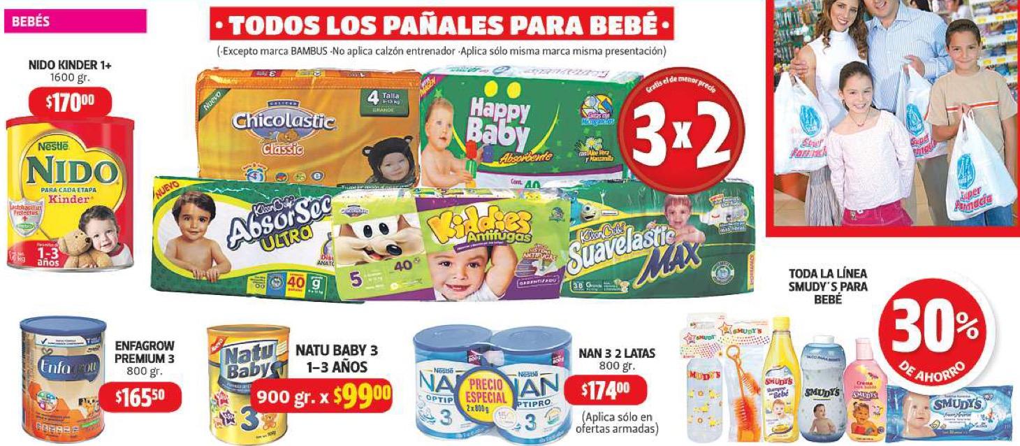 Maratón del ahorro en Farmacias Guadalajara: 3x2 en todos los pañales y más