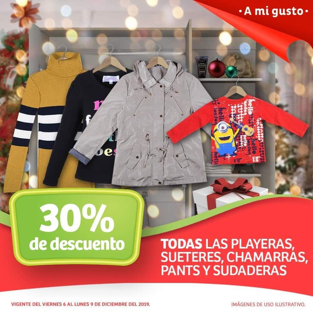 Soriana Híper y MEGA: 30% de descuento en todas las playeras, suéteres, chamarras, pants y sudaderas