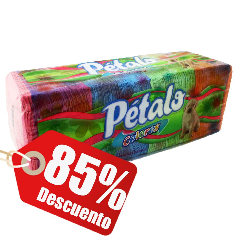 Chedraui en línea: 350 servilletas Pétalo de colores a $4.50 / Precio normal $32.50