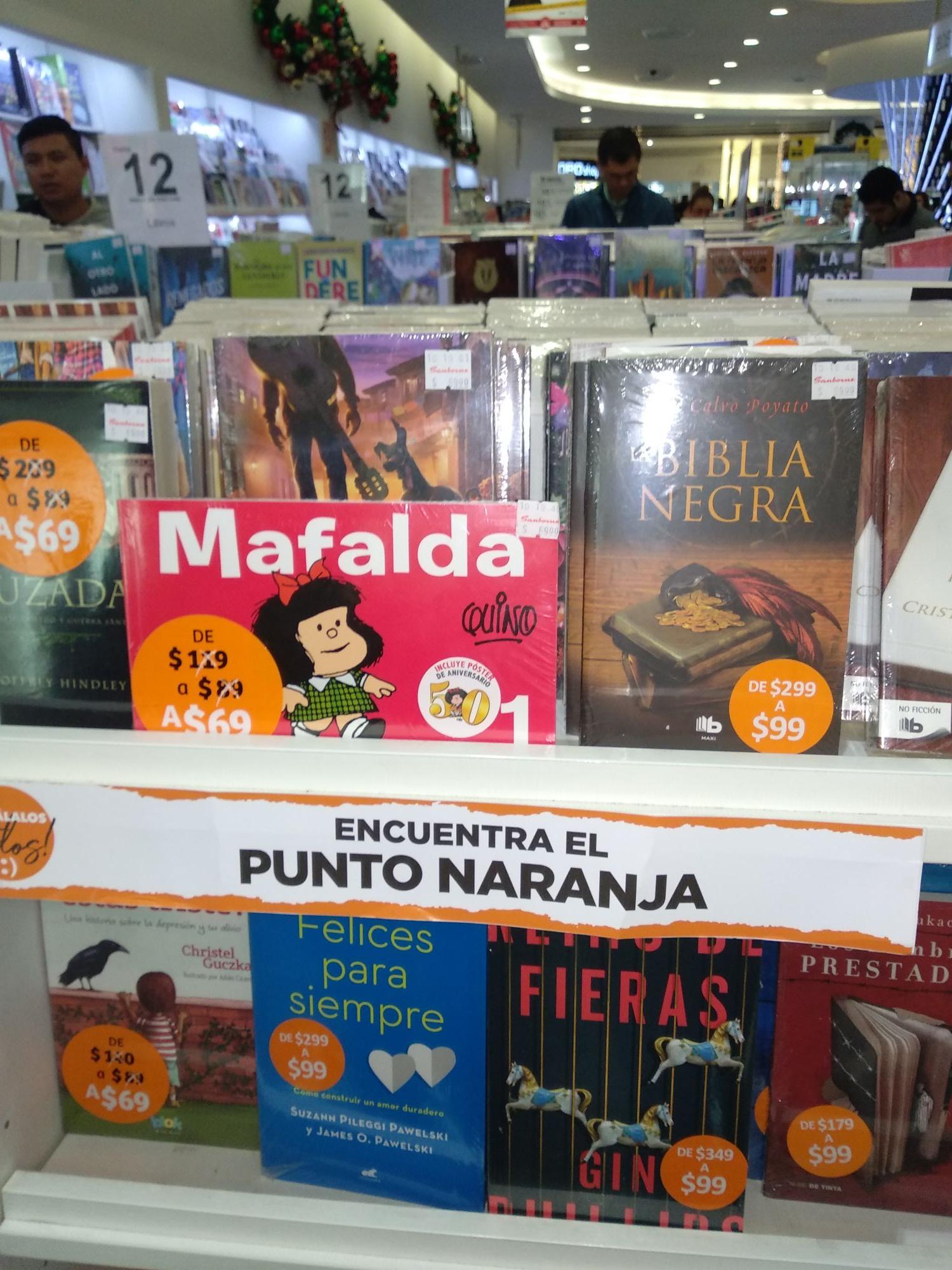 Sanborns: Libros desde 69 pesos NUEVOS TÍTULOS DISPONIBLES(precios normales hasta de 470)