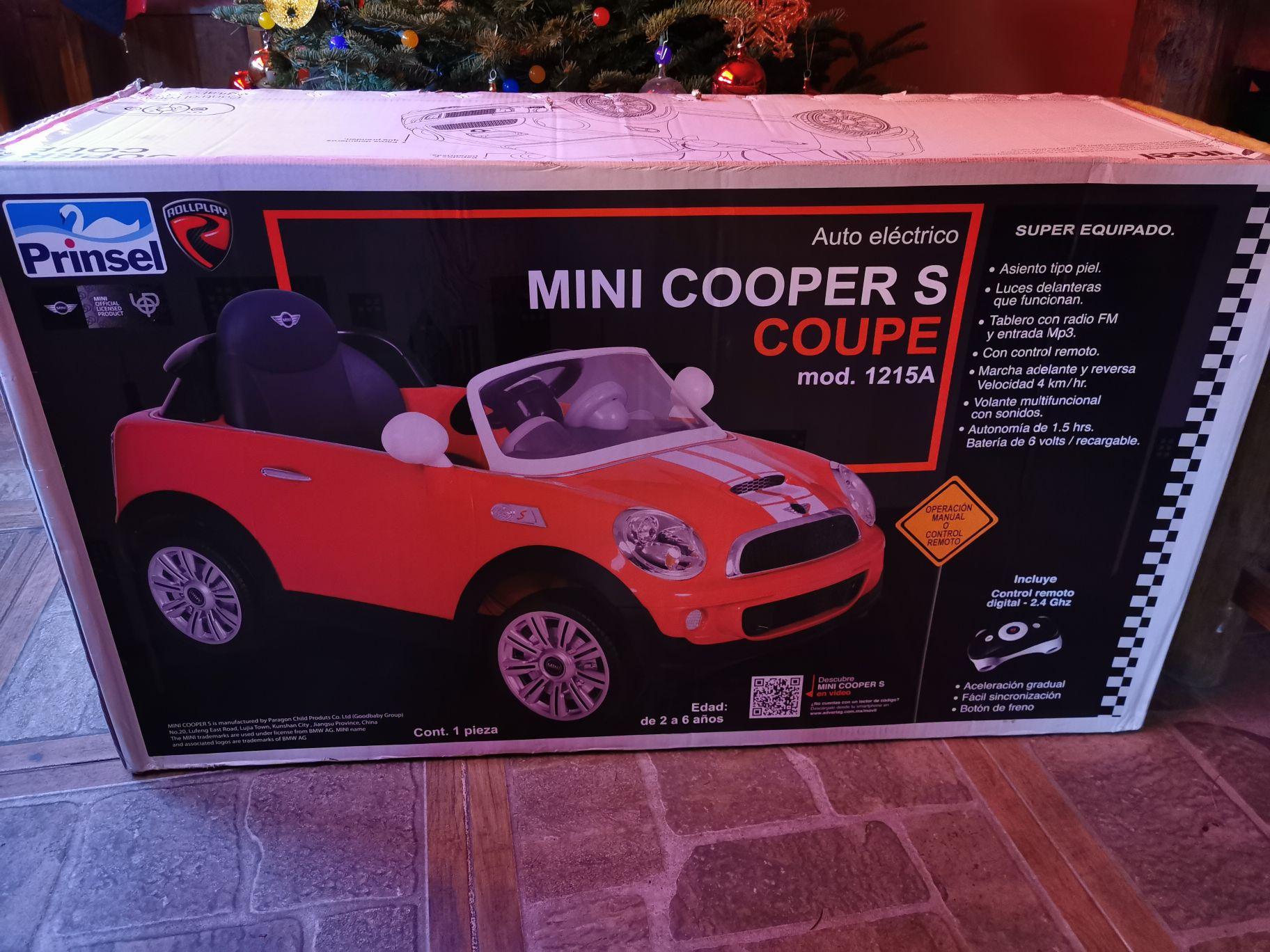Carrito eléctrico mini cooper prinsel 30% menos