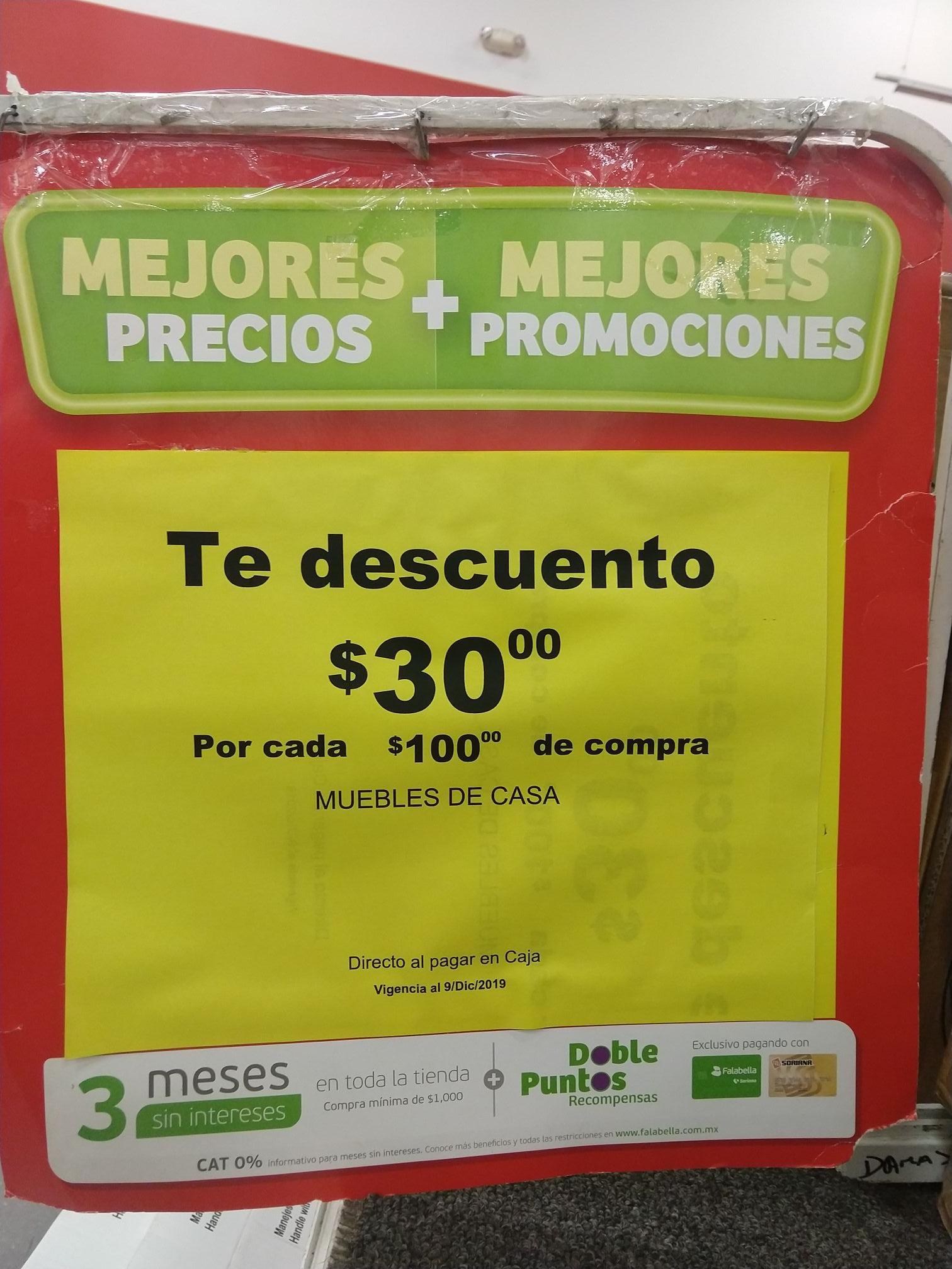 Soriana: Soriana Hiper Plaza el paseo Cancún, te descuentan 30 pesos por cada 100 de compra en muebles de hogar